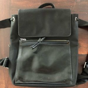 Calvin Klein Canvas/Leather Backpack/Purse